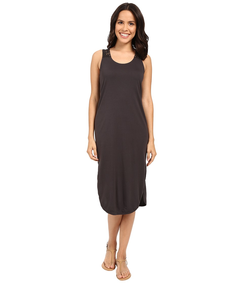 Michael Stars - Midi Tee Dress w/ Crochet Detail (Oxide) Women's Dress