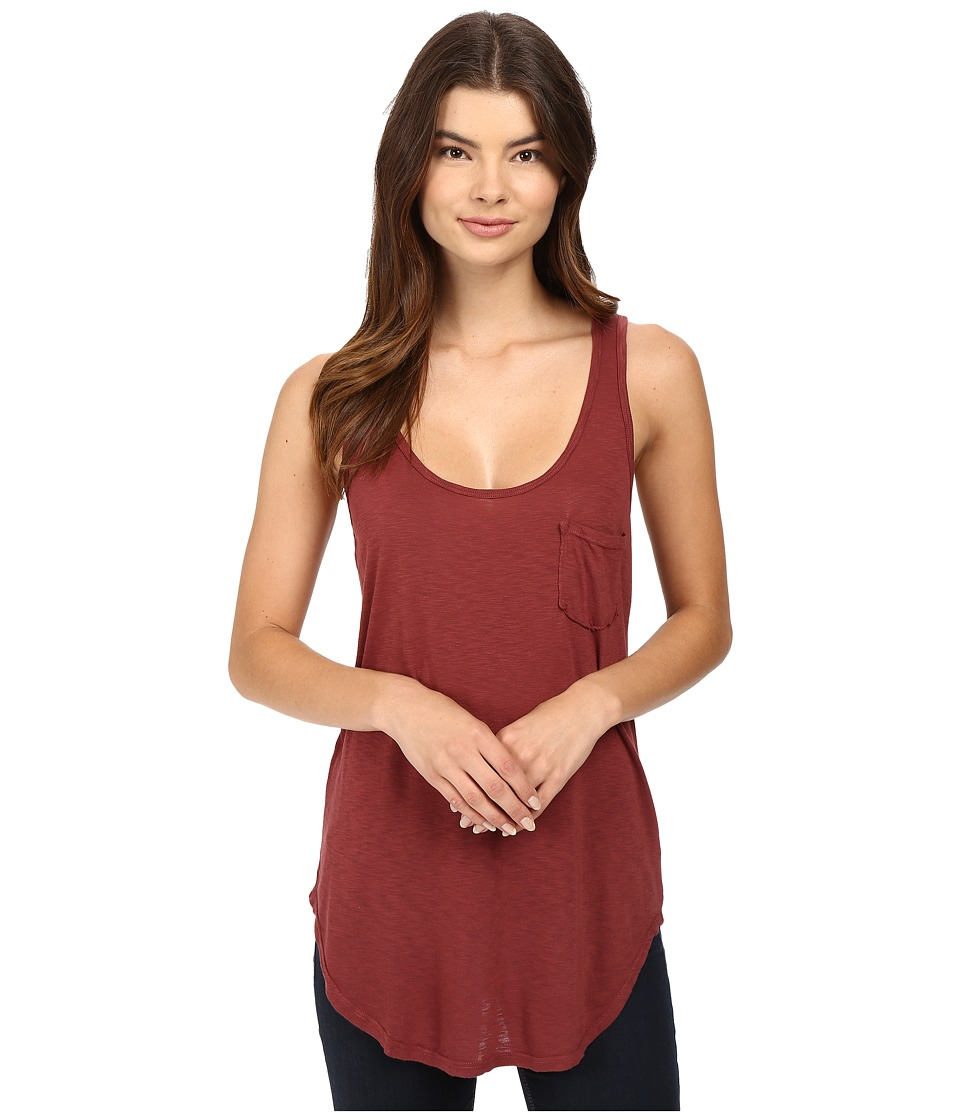 LAmade - Boyfriend Tank w/ Pocket (Terra) Women's Sleeveless