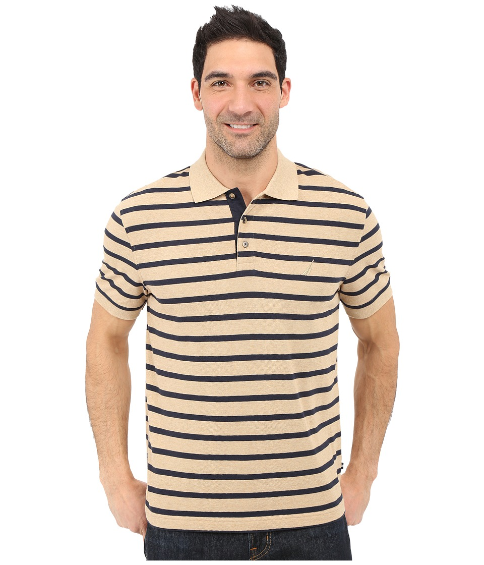 Nautica - Short Sleeve Yarn-Dyed Polo (Cork Heather) Men's Short Sleeve Pullover