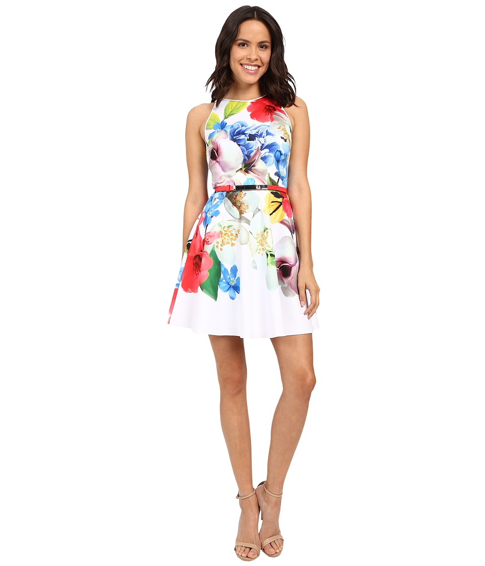 Ted Baker - Secil Forgetmenot Floral Strap Dress (White) Women's Dress