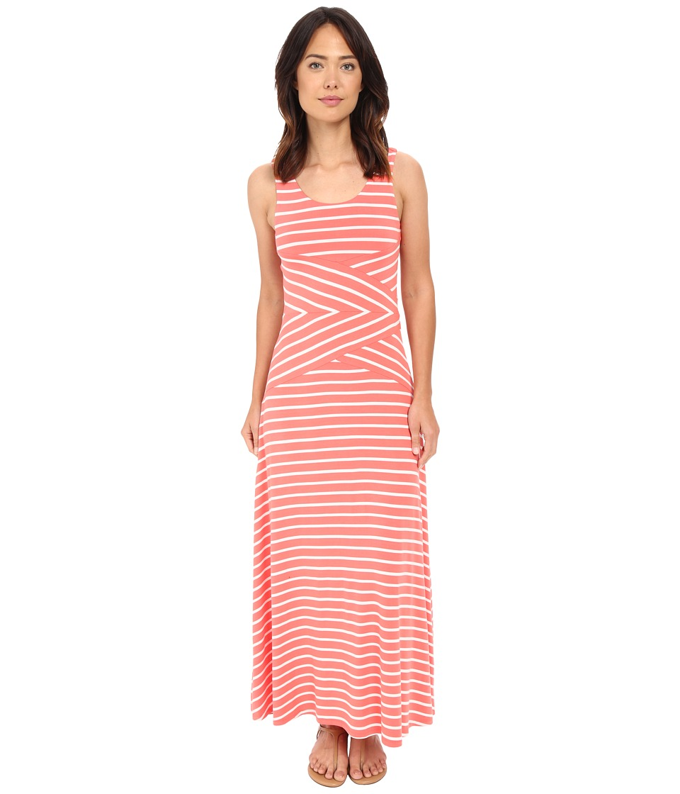 Calvin Klein - Maxi Stripe Dress (Porcelain Rose/Soft White Multi) Women's Dress