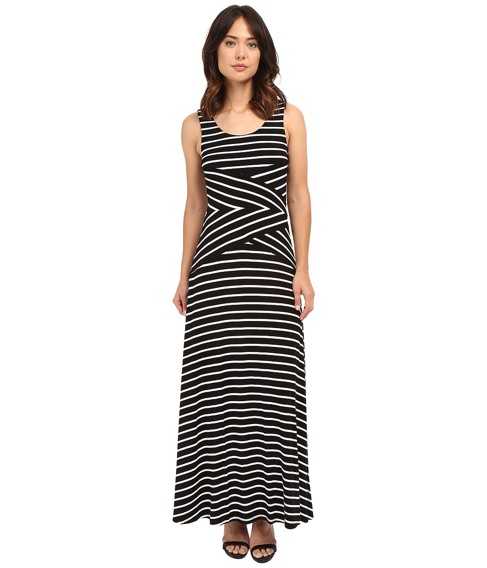 Calvin Klein - Maxi Stripe Dress (Black Combo 2) Women's Dress