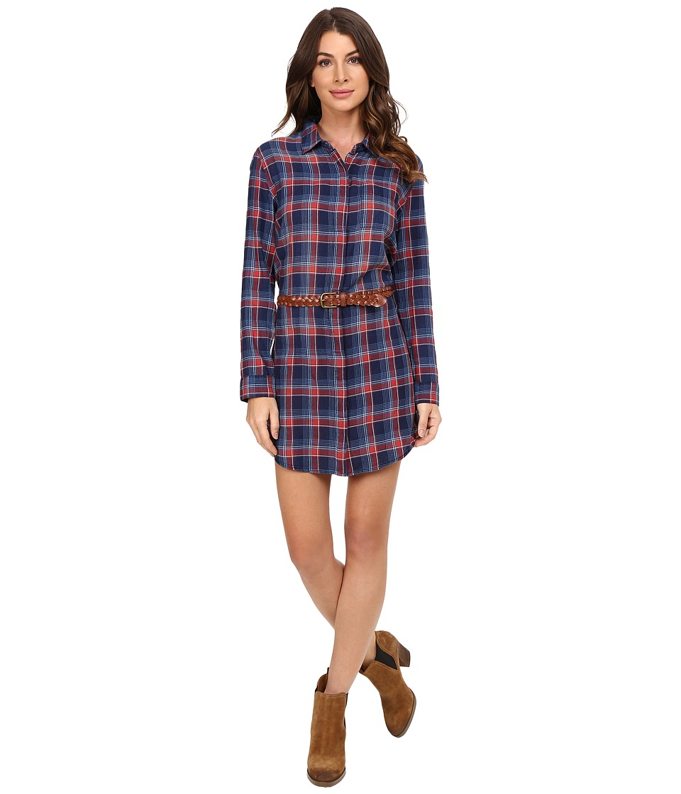 Splendid - Plaid Dress (Indigo) Women's Dress