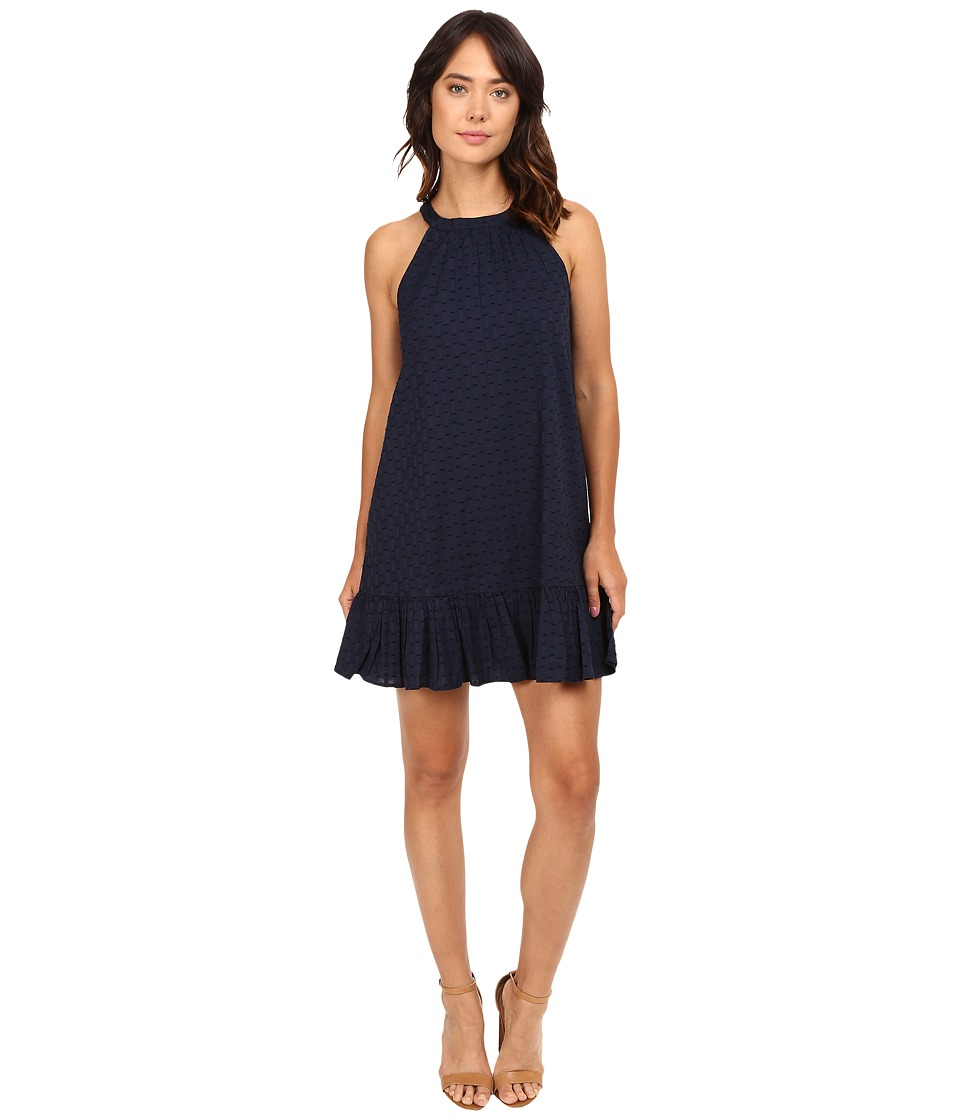 Splendid - Dover Clip Dot Dress (Navy) Women's Dress