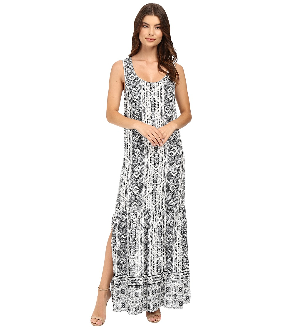 Splendid - Taos Print Maxi Dress (Black) Women's Dress