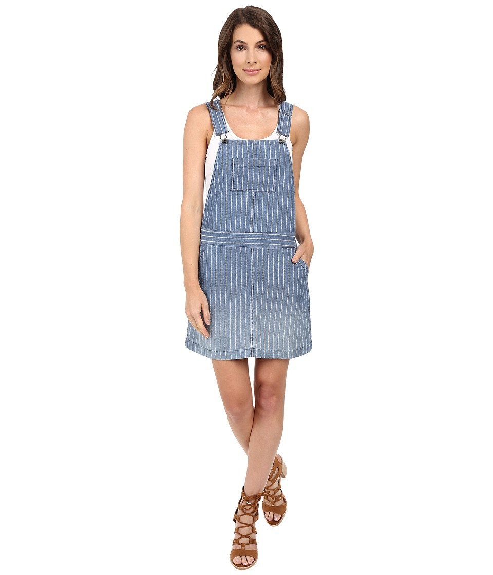 Splendid Oroya Indigo Railroad Overall Dress (Medium Wash Ombre) Women