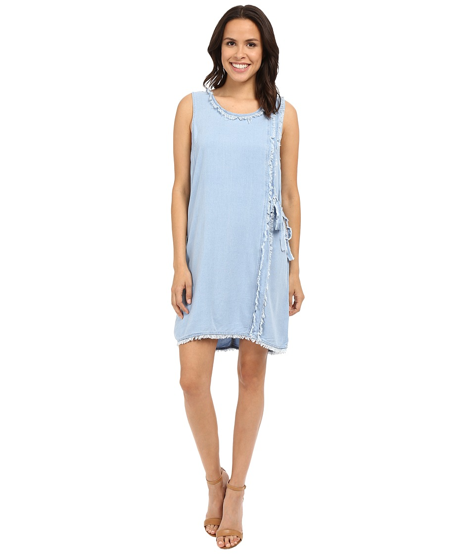 Splendid Crosshatch Wrap Dress (Light Wash) Women