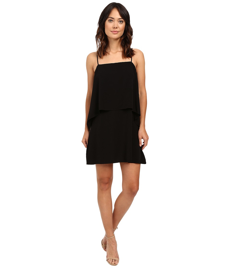 Splendid Rayon Voile Tiered Dress (Black) Women