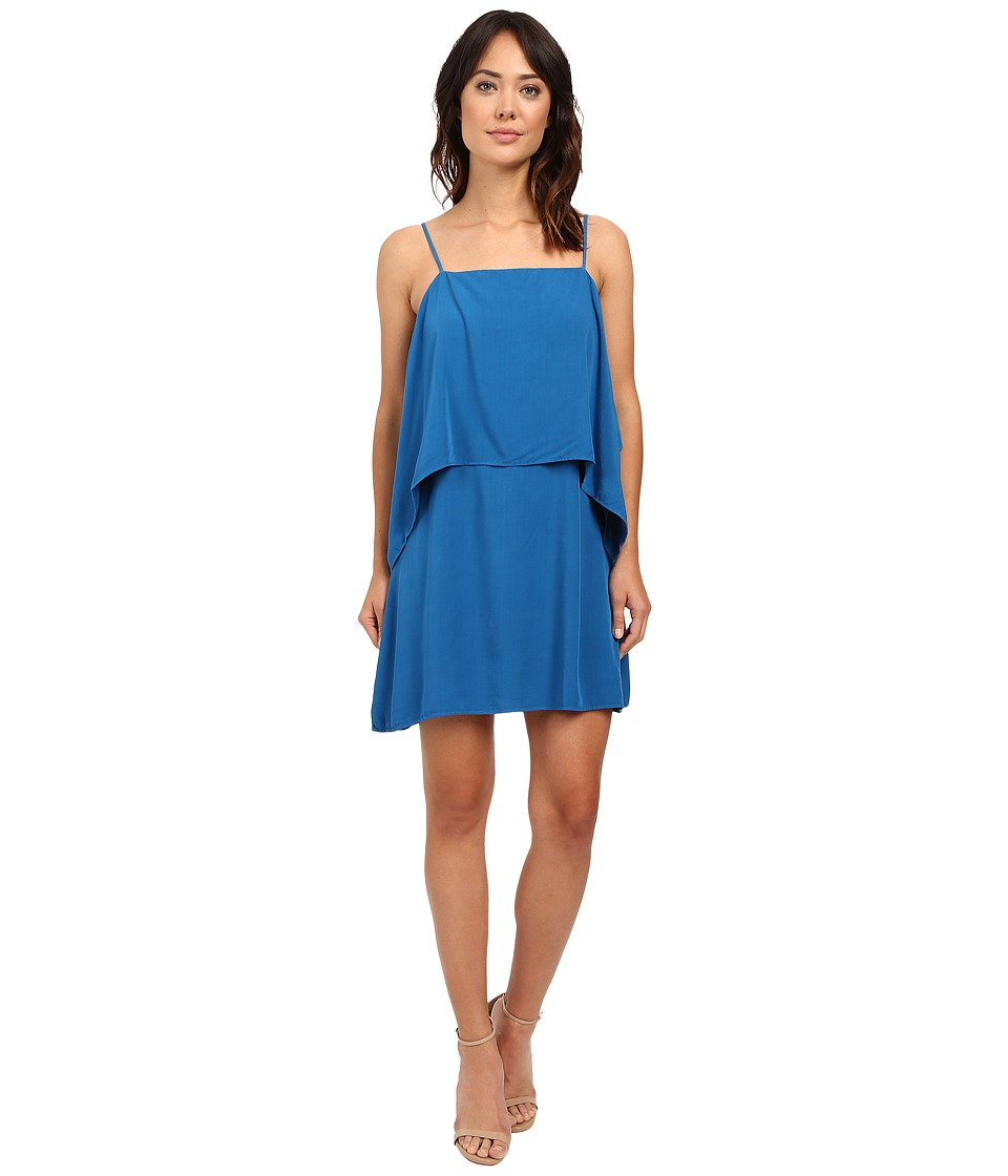Splendid - Rayon Voile Tiered Dress (Regatta Blue) Women's Dress