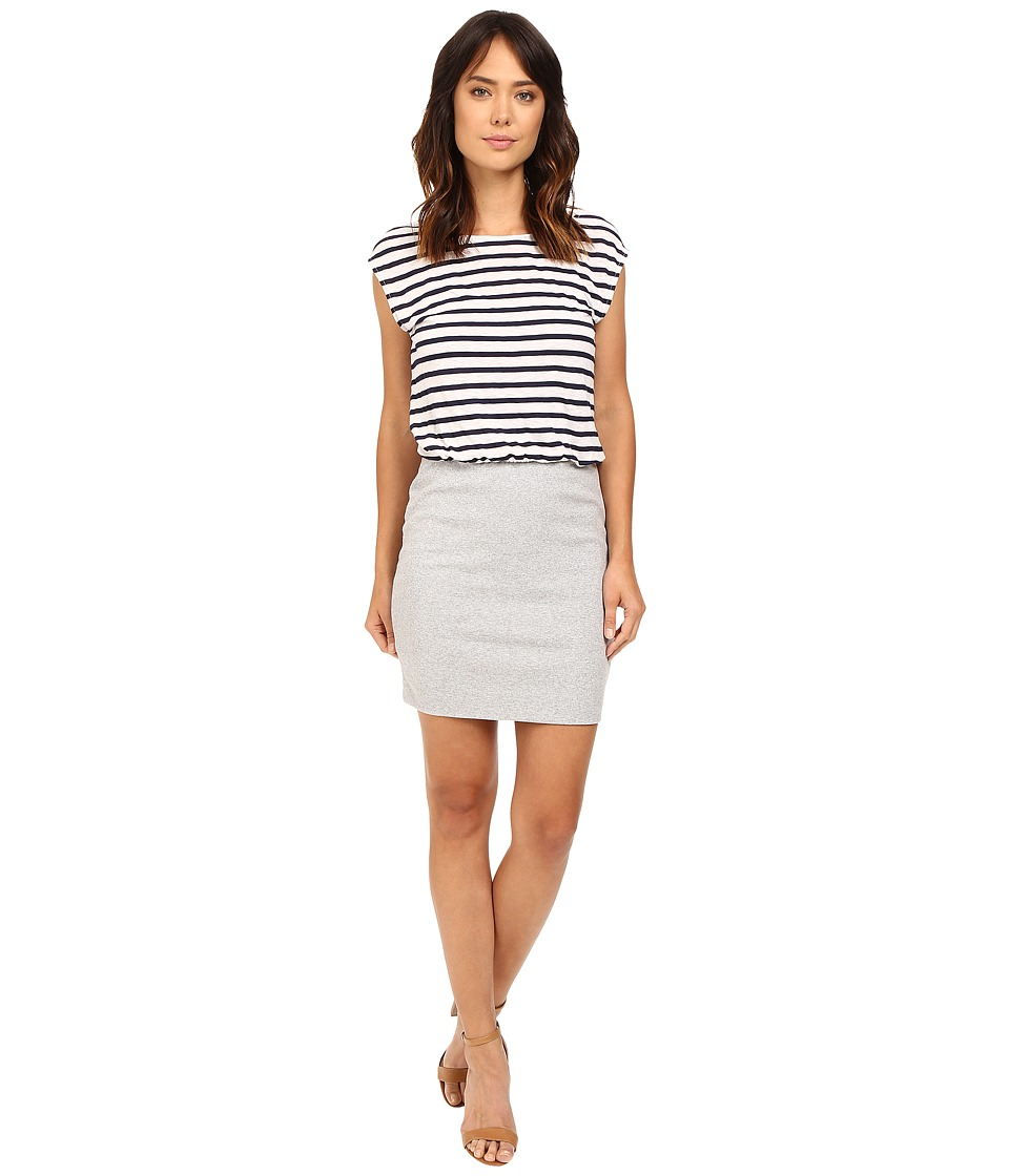 Splendid - Venice Stripe Dress (Navy/Heather Grey) Women's Dress