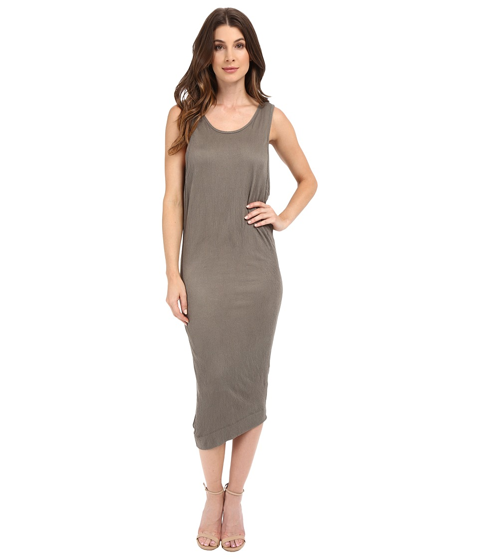 Splendid Textured Jersey Wedge Dress (Military Olive) Women