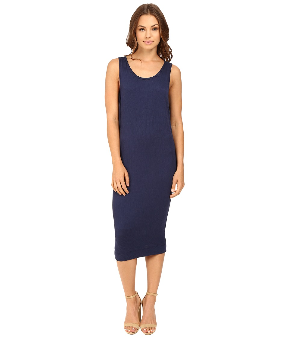 Splendid - Textured Jersey Wedge Dress (Navy) Women's Dress