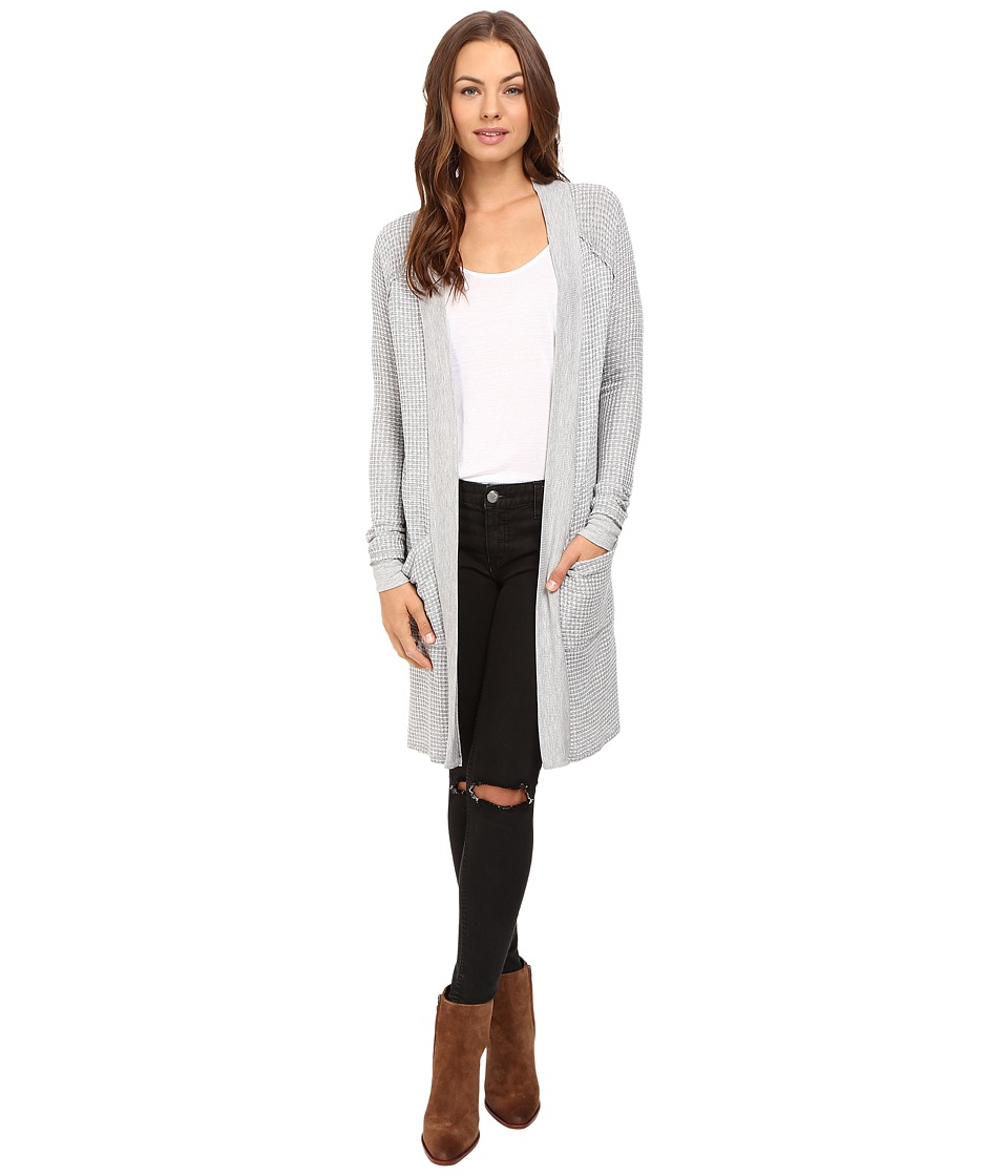 LAmade - Guy Midi Cardi (Heather Grey/White) Women's Sweater
