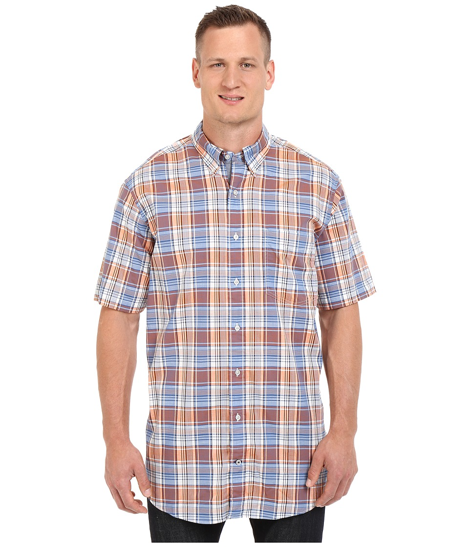 Nautica Big & Tall - Big Tall Fireside Plaid Short Sleeve Shirt (Fireside) Men's Clothing