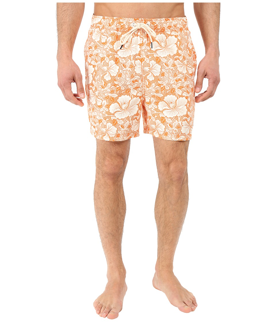 Nautica - Quick Dry Floral Print Swim Trunk (Fireside) Men's Swimwear