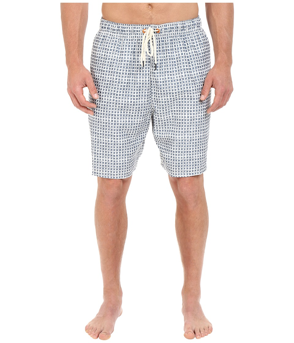 Nautica Big & Tall - Big Tall Quick Dry Geo Print Swim Trunk (Sailcream) Men's Swimwear