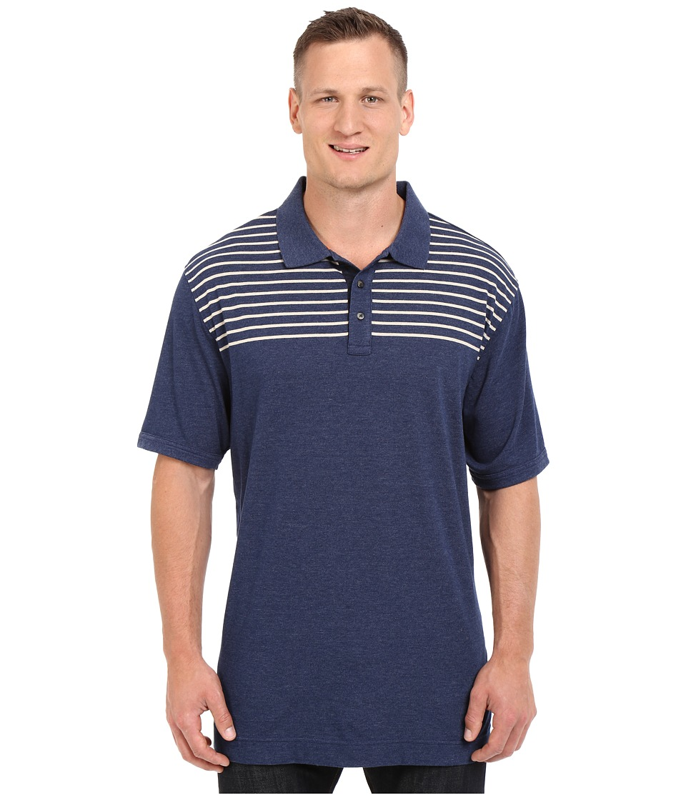 Nautica Big & Tall - Big Tall Chest Stripe Polo Shirt (Marine Blue) Men's Short Sleeve Knit