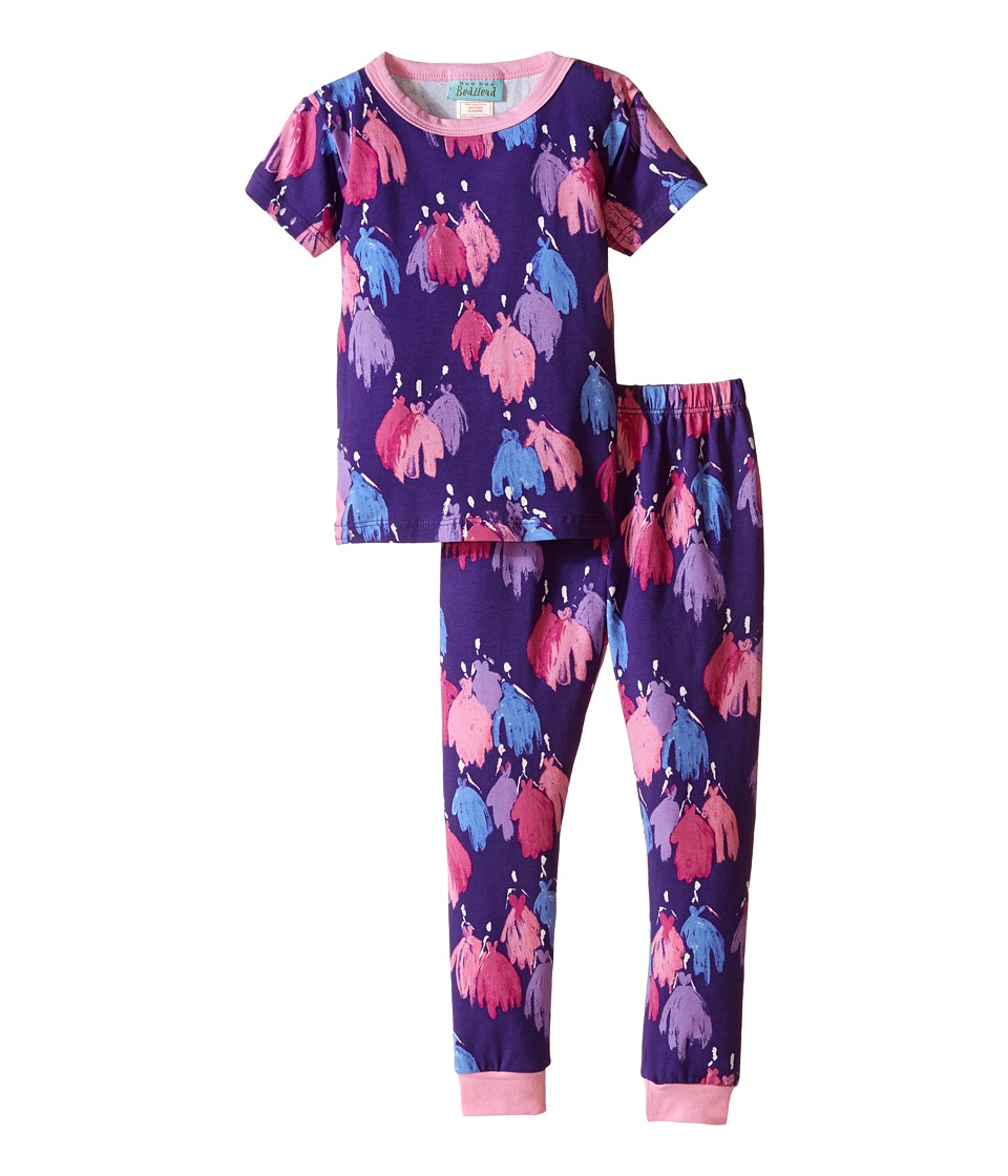 BedHead Kids - Short Sleeve Long Bottom Pajama Set (Toddler/Little Kids) (Purple Bell of the Ball) Girl's Pajama Sets