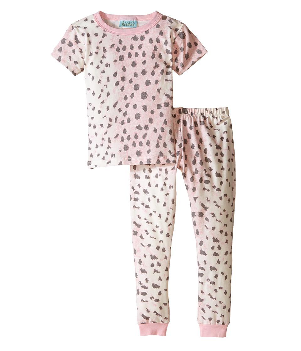 BedHead Kids - Short Sleeve Long Bottom Pajama Set (Toddler/Little Kids) (Pink Royal Animal) Girl's Pajama Sets