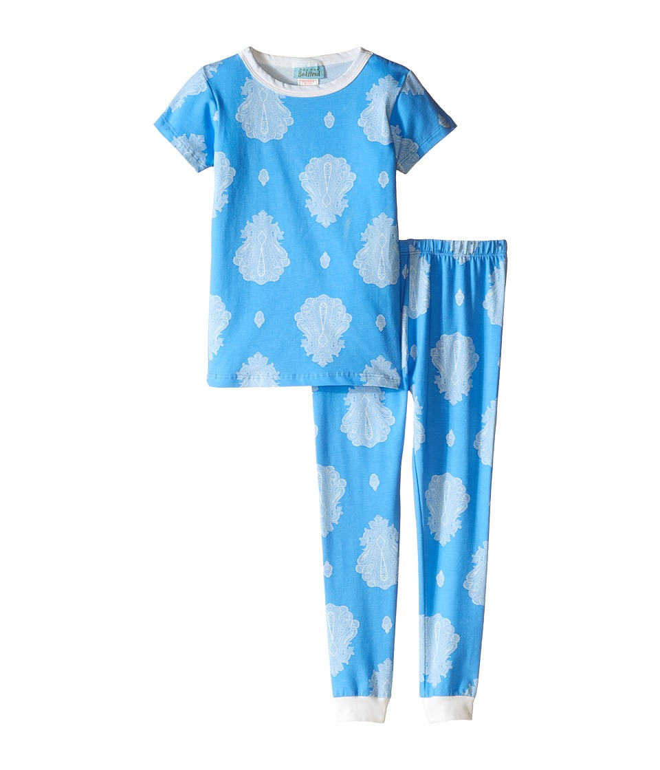 BedHead Kids - Short Sleeve Long Bottom Pajama Set (Toddler/Little Kids) (Blue Paisley Palace) Boy's Pajama Sets
