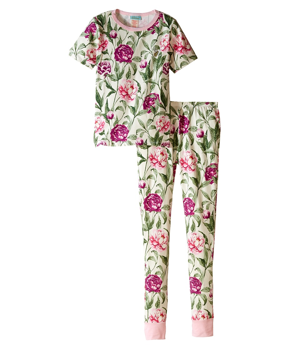 BedHead Kids - Short Sleeve Long Bottom Pajama Set (Big Kids) (Garden Party) Girl's Pajama Sets