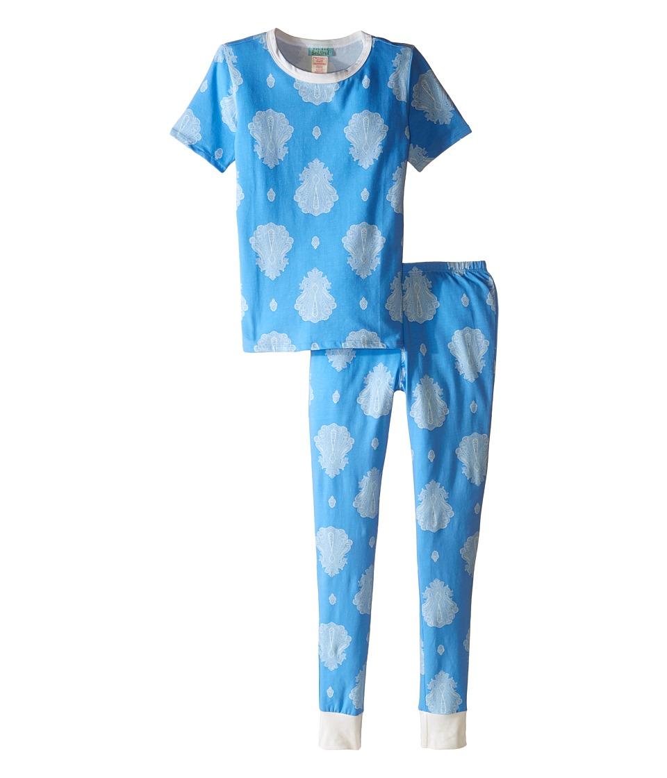 BedHead Kids - Short Sleeve Long Bottom Pajama Set (Big Kids) (Blue Paisley Palace) Boy's Pajama Sets