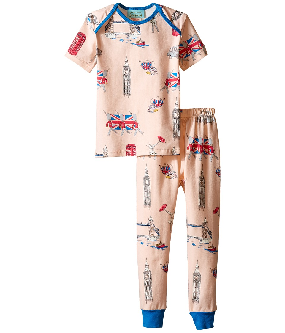 BedHead Kids - Short Sleeve Long Bottom Pajama Set (Infant) (London Calling) Girl's Pajama Sets