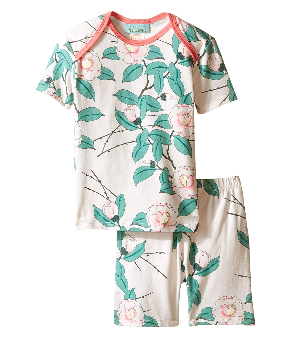 BedHead Kids - Short Sleeve Short Bottom Pajama Set (Infant) (Pink Camellia) Girl's Pajama Sets