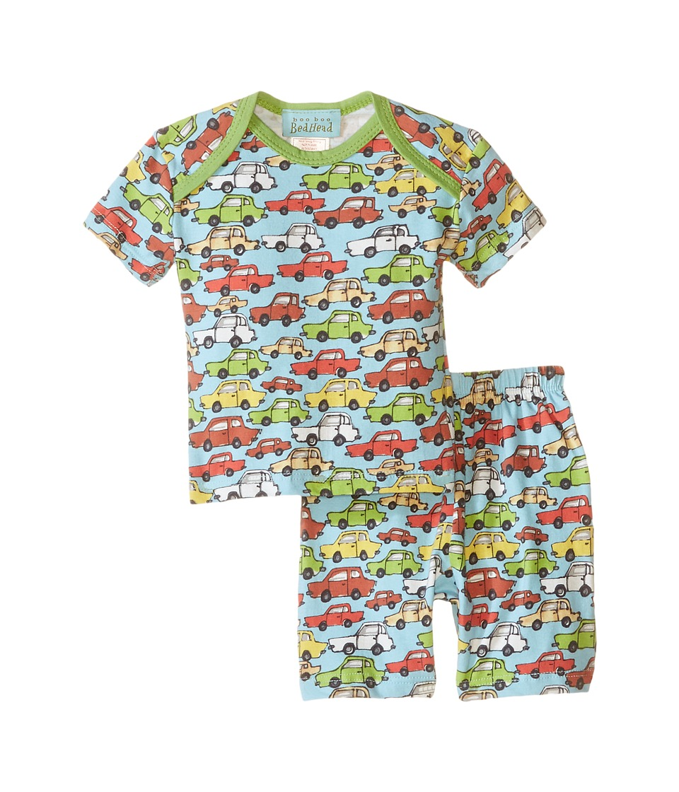 BedHead Kids - Short Sleeve Short Bottom Pajama Set (Infant) (Hot Wheels) Boy's Pajama Sets