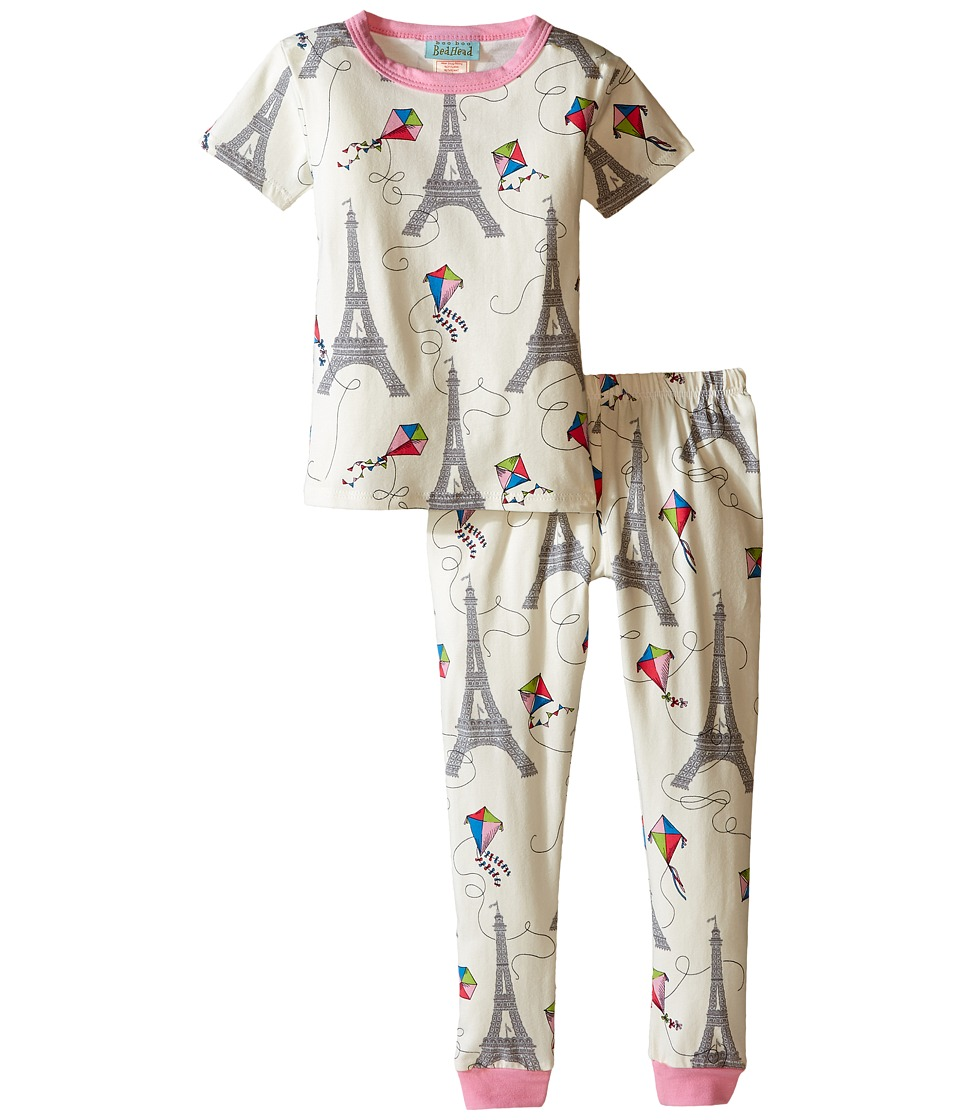 BedHead Kids - Short Sleeve Long Bottom Pajama Set (Toddler/Little Kids) (Eiffel Kites) Girl's Pajama Sets