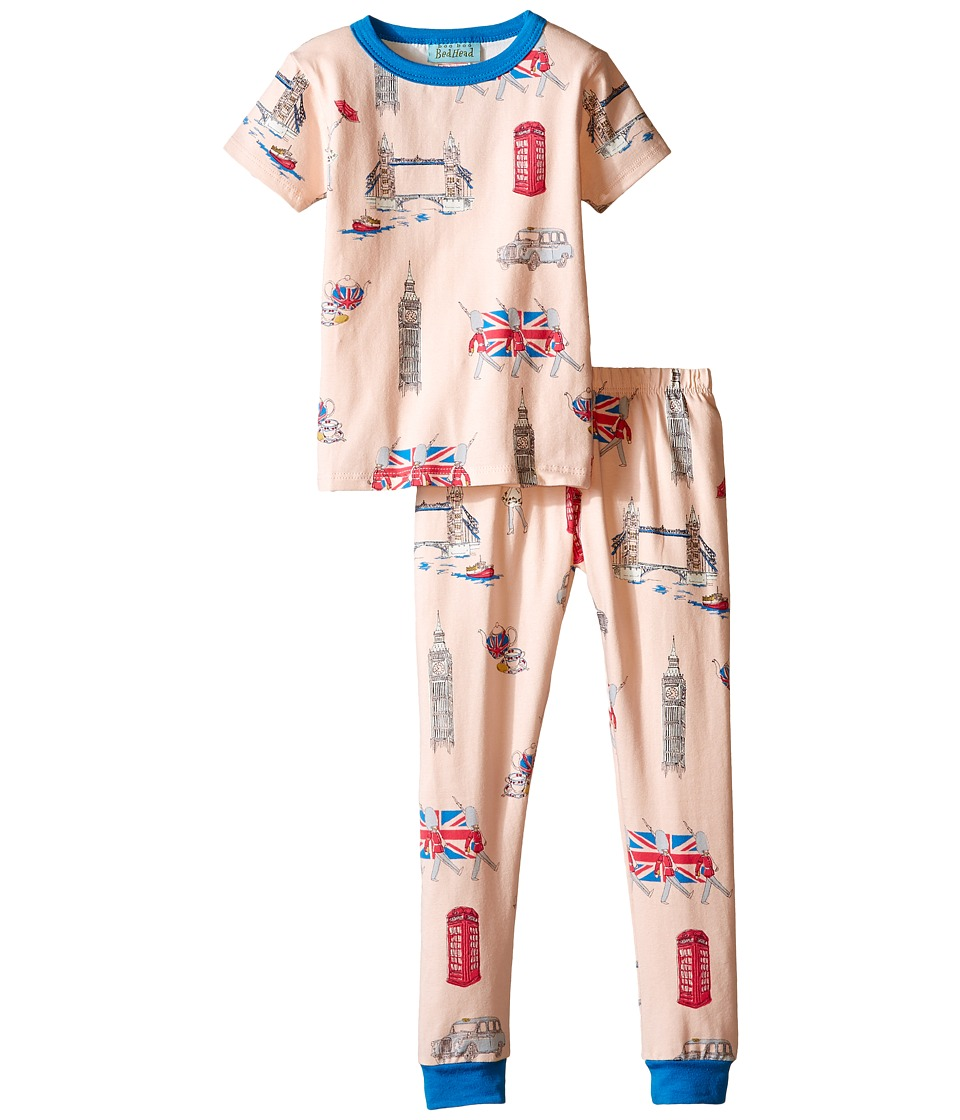 BedHead Kids - Short Sleeve Long Bottom Pajama Set (Toddler/Little Kids) (London Calling) Girl's Pajama Sets