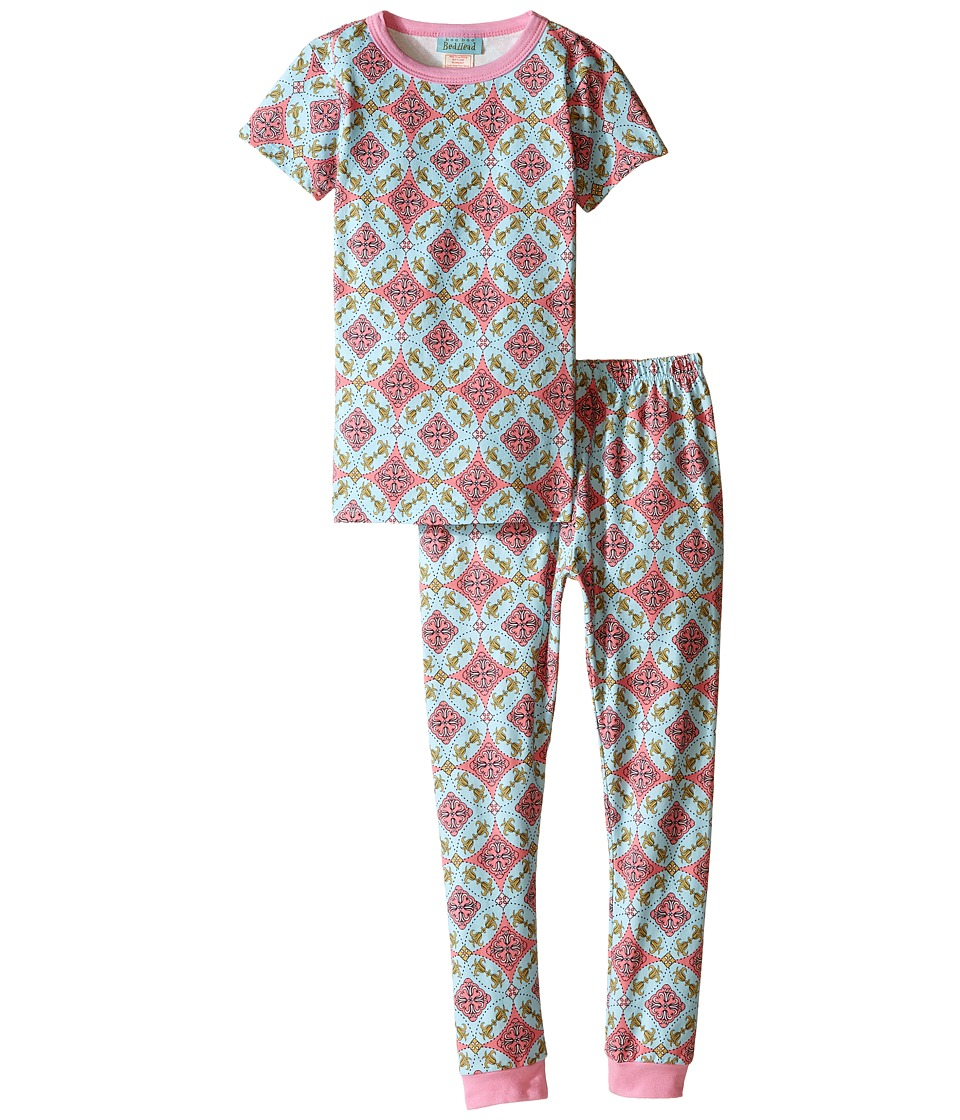 BedHead Kids - Short Sleeve Long Bottom Pajama Set (Toddler/Little Kids) (Rock the Casbah) Girl's Pajama Sets