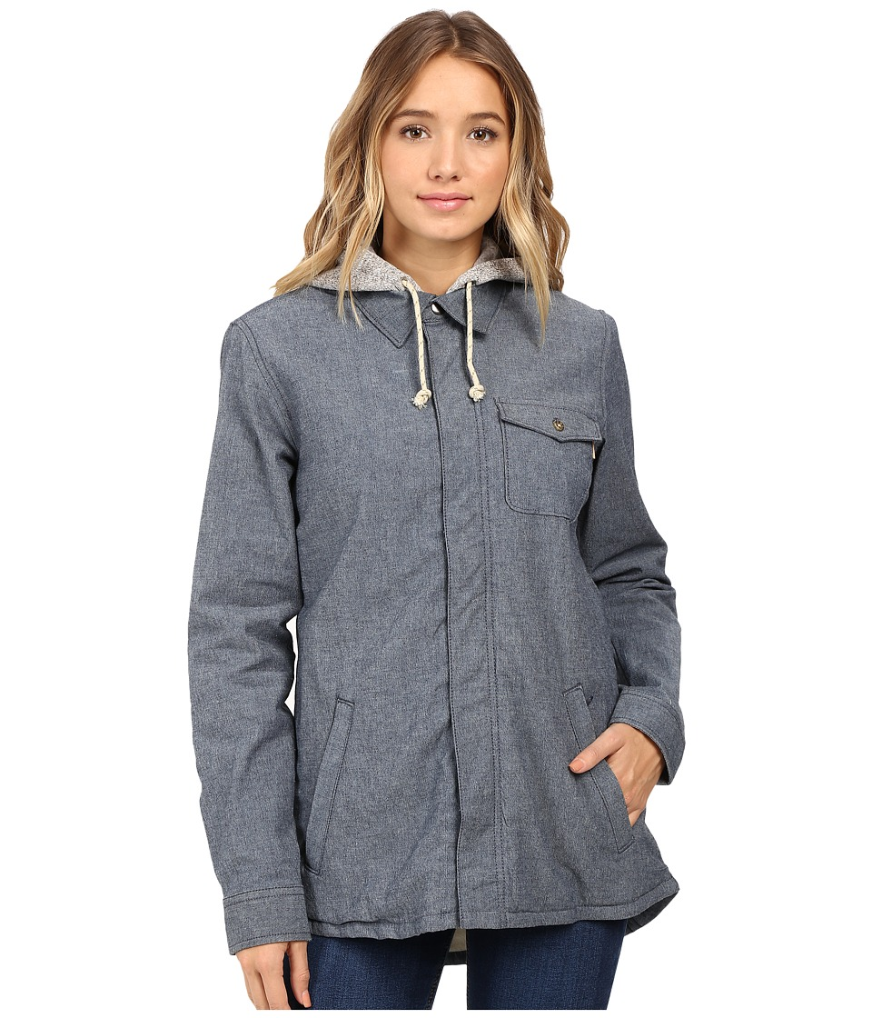 Burton - Calla Long Sleeve Woven (Indigo Rinse) Women's Long Sleeve Button Up