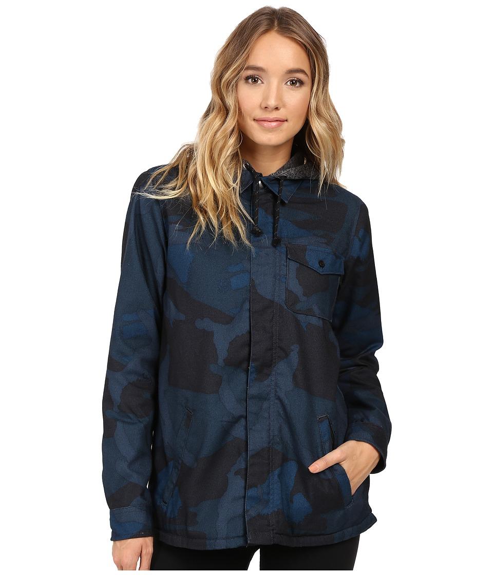 Burton - Calla Long Sleeve Woven (Eclipse Derby Camo) Women's Long Sleeve Button Up