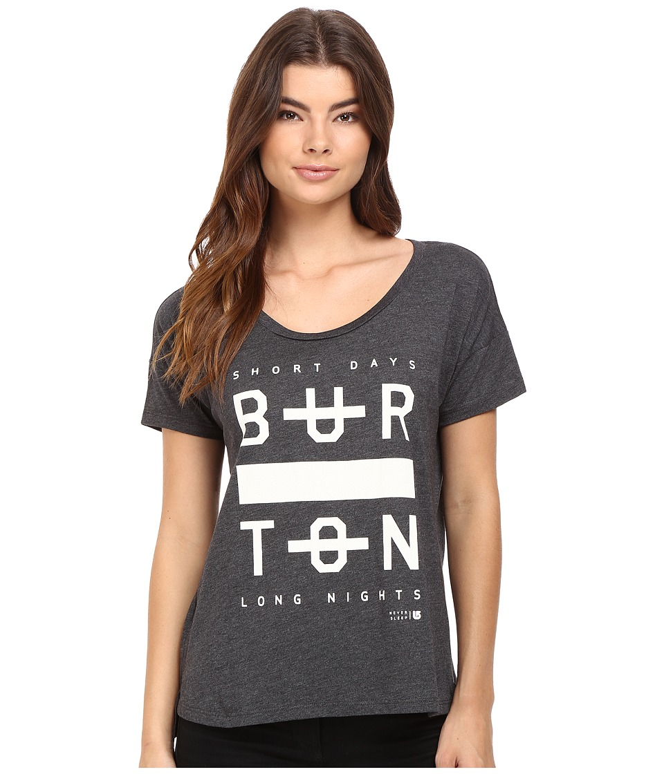 Burton - Never Sleep Tee (True Black Heather) Women's T Shirt