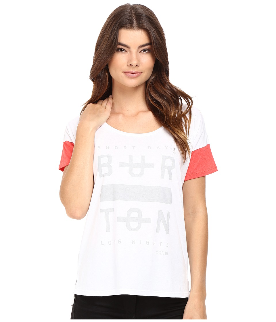 Burton - Never Sleep Tee (Stout White) Women's T Shirt