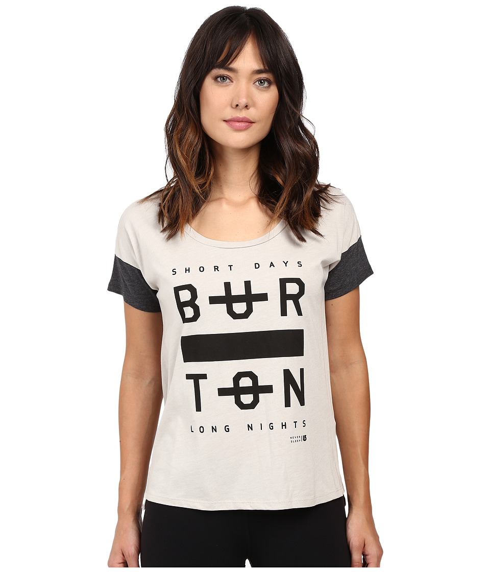 Burton - Never Sleep Tee (Dove Heather) Women's T Shirt