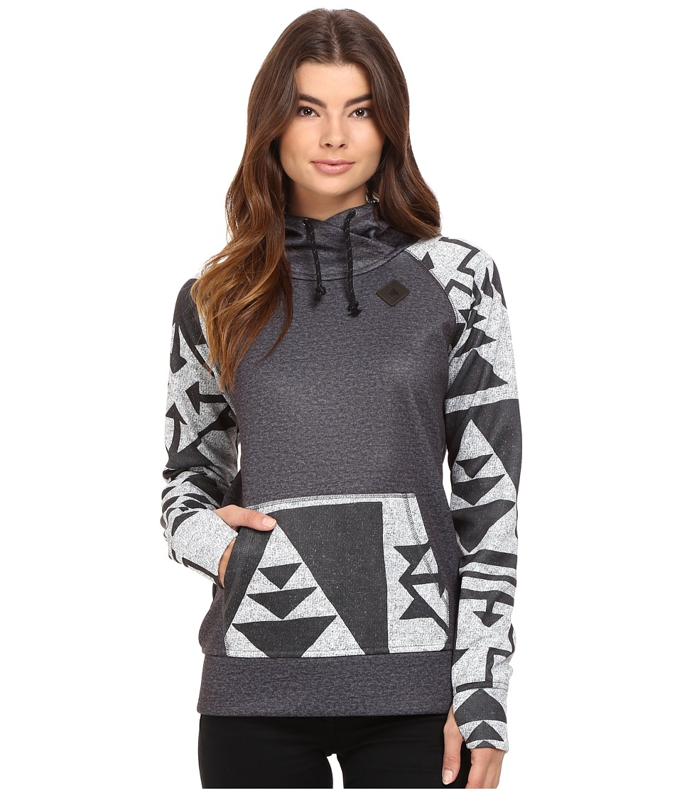 Burton - Heron Pullover Hoodie (True Black Heather) Women's Fleece