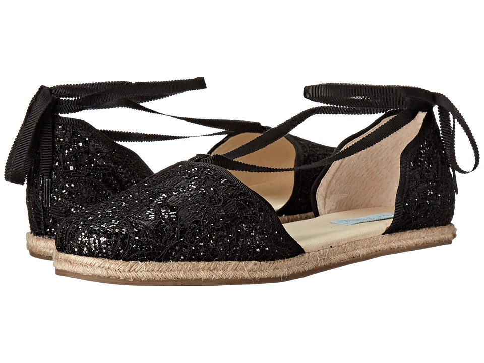 Blue by Betsey Johnson Riley (Black Glitter) Women