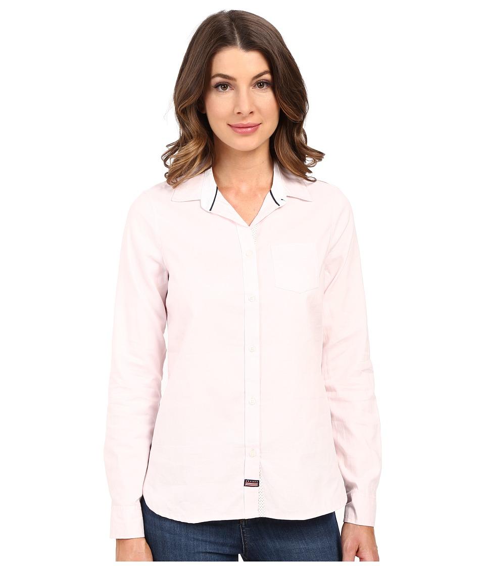 U.S. POLO ASSN. - Long Sleeve Oxford Solid and Dot Shirt (Coastal Pink) Women's Long Sleeve Button Up