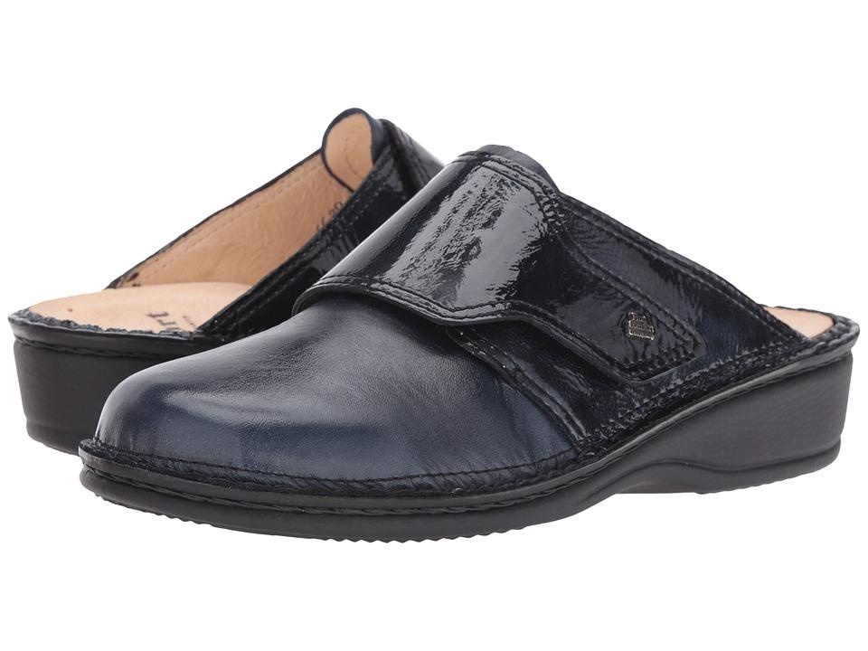Finn Comfort - Aussee-S (Atlantic Venezia/Patent) Women's Slip on Shoes