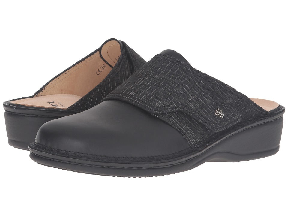 Finn Comfort - Aussee-S (Black/Nero Nappa Seda/Cris) Women's Slip on Shoes