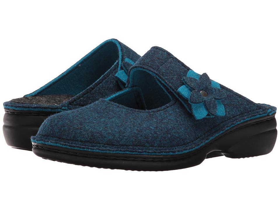 Finn Comfort - Arlberg (Blue Doublefilz) Women's Clog Shoes
