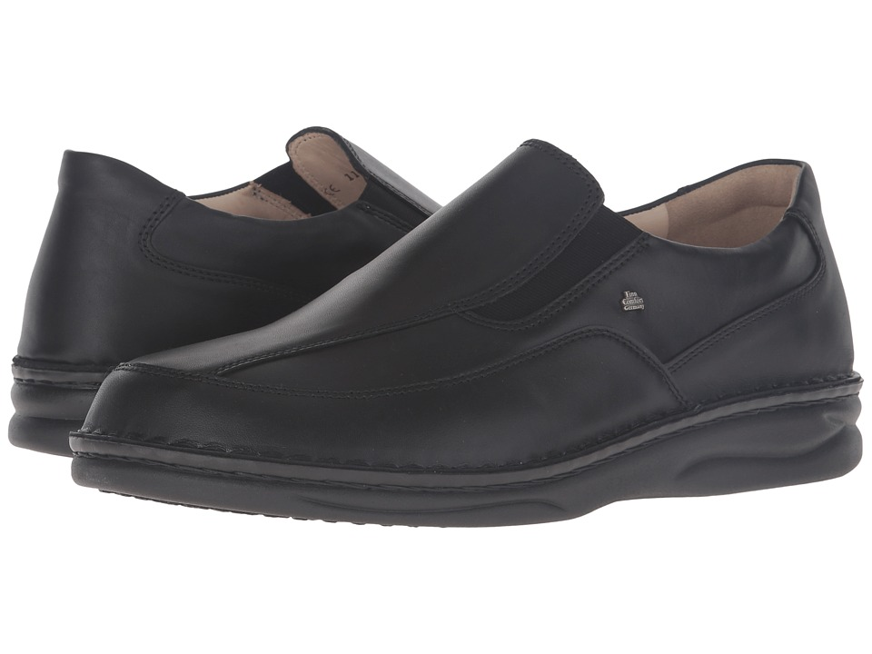 Finn Comfort - Carballo (Black Montana) Men's Slip on Shoes