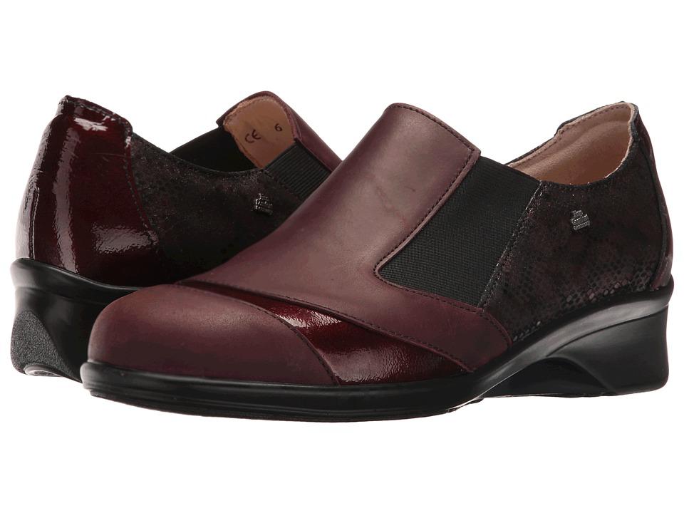 Finn Comfort - Edina (Bordo/Bordeaux/Bordo Algave/Patent/Python) Women's Clog Shoes