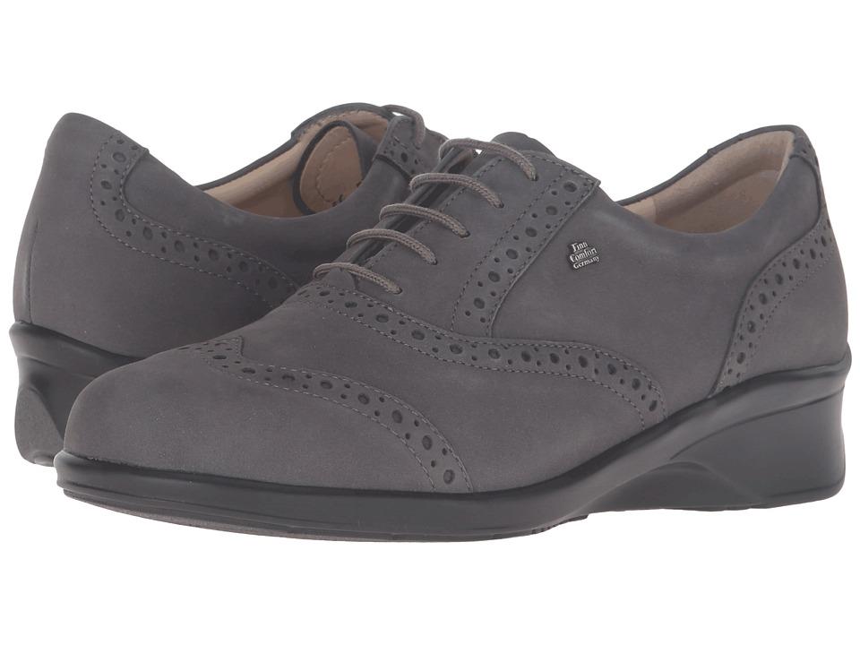 Finn Comfort - Eureka (Dark Grey Patagonia) Women's Lace up casual Shoes