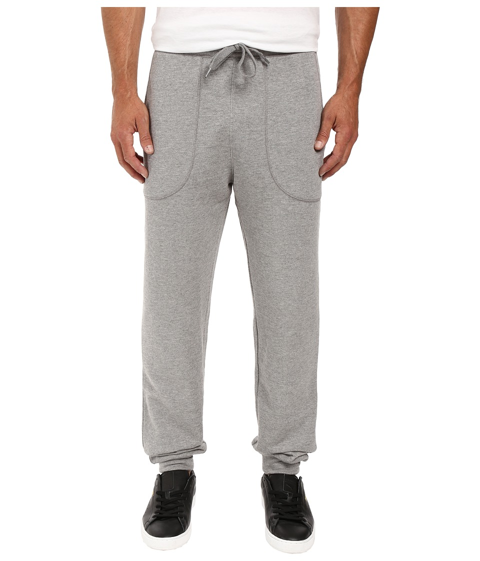 Life is good - LIG Embroidered Terry Jogger (Heather Gray) Men's Casual Pants