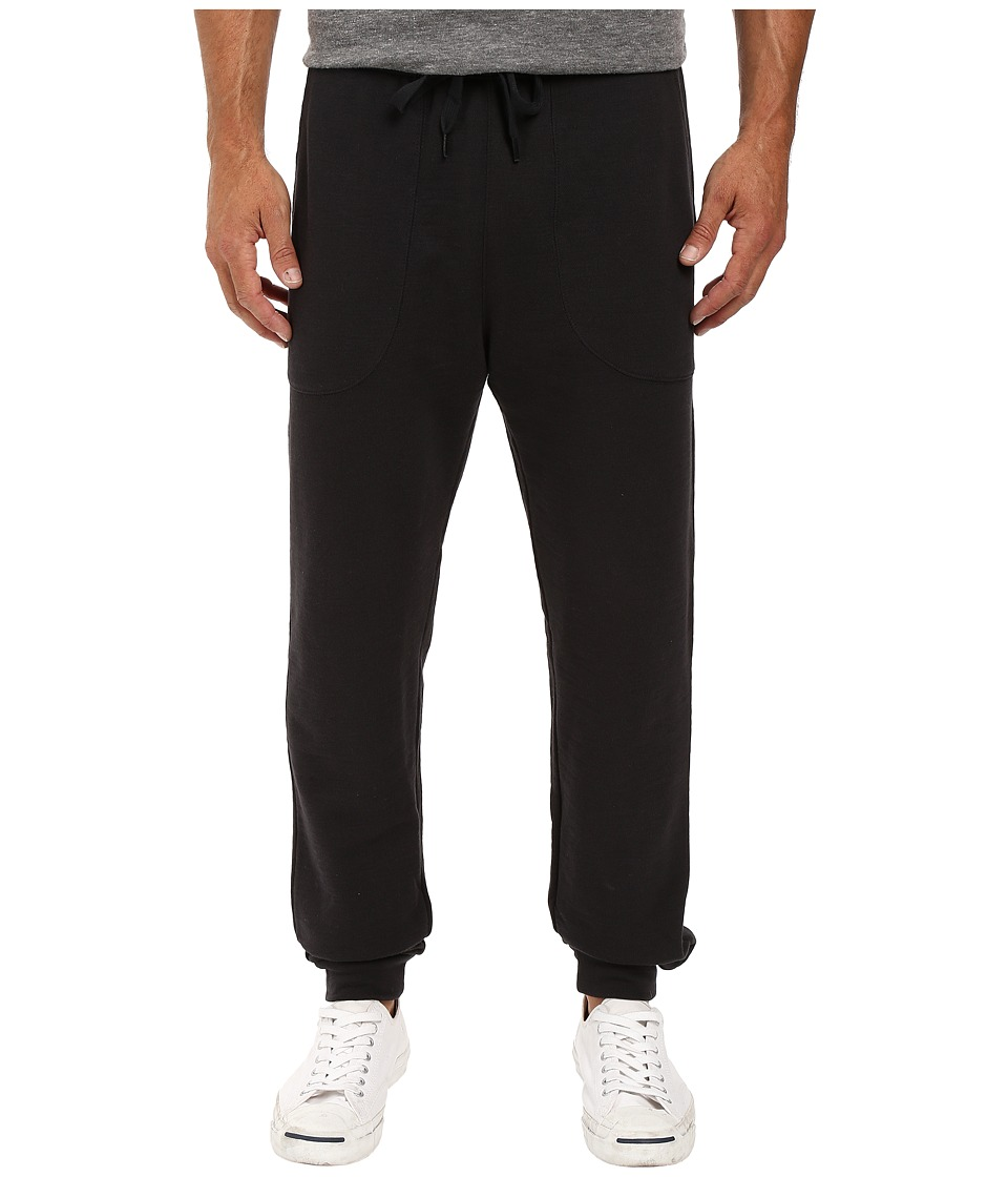 Life is good - LIG Embroidered Terry Jogger (Night Black) Men's Casual Pants