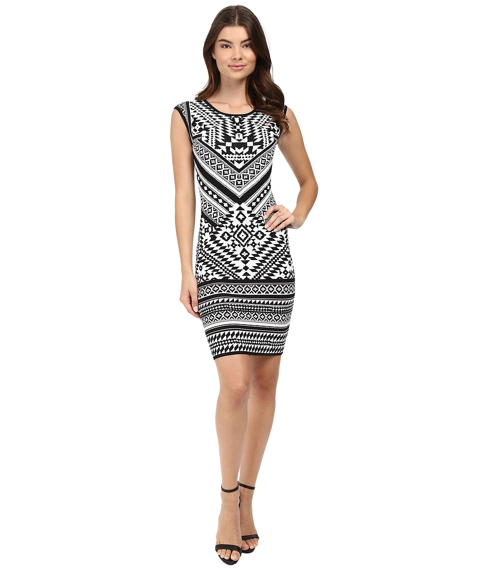 Hale Bob - Urban Explorer Knit Dress (Black/White) Women's Dress