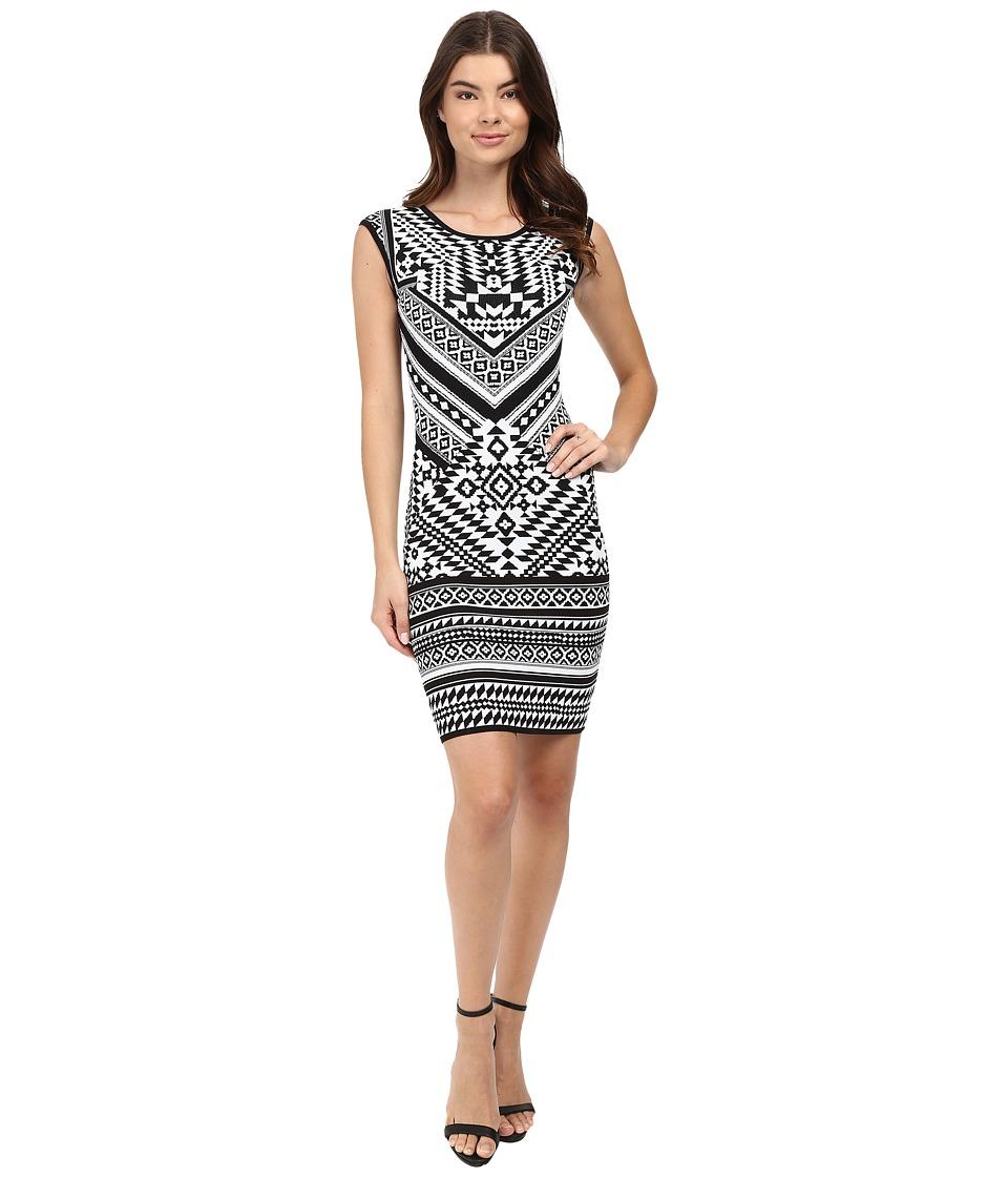 Hale Bob - Urban Explorer Knit Dress (Black/White) Women's Dress